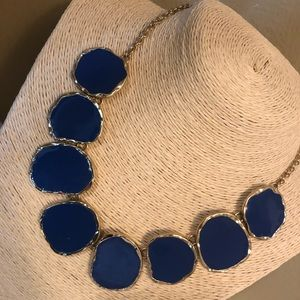 Gold & Blue Necklace with matching Earrings